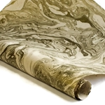 Marbled Nepalese Lokta Paper - GOLD/CREAM