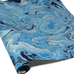 Marbled Nepalese Lokta Paper - BLUE/CREAM