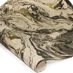 Marbled Nepalese Lokta Paper - GOLD/BLACK/CREAM
