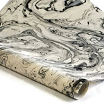 Marbled Lokta Paper - SILVER/BLACK on NATURAL