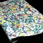 Marbled Lokta Paper - RED/GREEN/BLUE/YELLOW on NATURAL