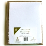 Handmade Deckle Edge Indian Cotton Pastel Paper Pack - WHITE