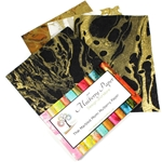 "Marbled Mulberry Momi Paper Pack in Neutral Colors (12 Sheets of 8.5"" x 11"" Paper)"