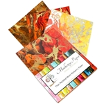 "Marbled Mulberry Momi Paper Pack in Warm Colors (12 Sheets of 8.5"" x 11"" Paper)"
