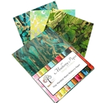 "Marbled Mulberry Momi Paper Pack in Green Colors (12 Sheets of 8.5"" x 11"" Paper)"