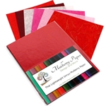 "Unryu Mulberry Paper Pack in 6 Red Colors (24 Sheets of 8.5"" x 11"" Paper)"