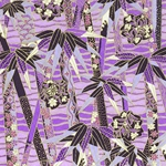 Japanese Chiyogami Yuzen Paper - VIOLET BAMBOO STALKS
