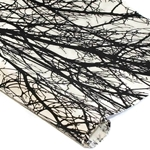 Silkscreened Nepalese Lokta Paper - BRANCH - Black on White