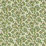 Decorative Italian Print Paper - GREEN FLORENTINE
