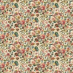 Decorative Italian Print Paper - PINK ART NOUVEAU FLOWERS