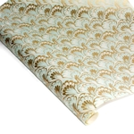 Decorative Italian Marble Print Paper - PEACOCK - BLUE AND GOLD