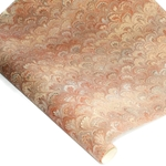 Decorative Italian Hand-Marbled Paper - PEACOCK - BROWN