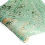 Decorative Italian Hand-Marbled Paper - GRANITE - GREEN