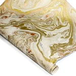 Marbled Lokta Paper - GOLD/SILVER/COPPER on NATURAL