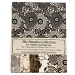 Handmade Nepalese Lokta Paper Pack - BLACK AND CREAM