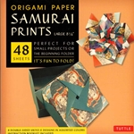 Finally, an origami kit for beginners and experts alike. The large, 8.25 inch sheets make easy folding for beginners as they follow the included instructions. The specialty prints and solid color reverse on these papers will thrill experts with new designs and patterns for their art. The 48 sheets in this kit feature details inspired by classic Japanese Ukiyo-E paintings of Samurai warriors. On the reverse of each sheet is a solid, complimentary color. Finishing up the kit are instructions providing an introduction to basic origami folding techniques and instructions for 6 different projects.