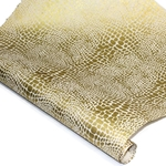 Silkscreened Nepalese Lokta Paper - CROCODILE - Gold on Natural