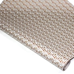 Metallic Screenprinted Indian Cotton Rag Paper - CHEVRON DOTS - METALLIC ON NATURAL