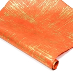Silkscreened Nepalese Lokta Paper - BRUSH - Gold on Orange