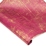Silkscreened Nepalese Lokta Paper - BRUSH - Gold on Merlot
