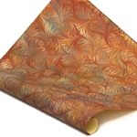 Italian Marbled Paper - BIRD WING - Red/Blue/Green