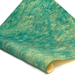 Italian Marbled Paper - TWILLED - Turquoise/Yellow/Orange