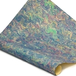 Italian Marbled Paper - CURLED - Blues