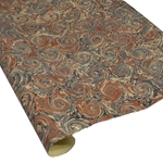 Italian Marbled Paper - CURLED STONE - Browns