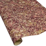 Italian Marbled Paper - STONE - Pink/Peach/Burgundy