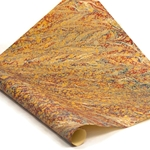 Italian Marbled Paper - VEIN - Red/Green/Gold/Blue