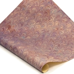 Italian Marbled Paper - PEACOCK - Purples