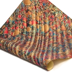 Italian Marbled Paper - STONE WAVE - Red/Blue/Brown