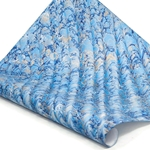 Italian Marbled Paper - STONE WAVE - Bright Blue/Gold