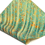Italian Marbled Paper - STONE WAVE - Blue/Orange