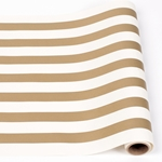 Paper Table Runner Roll - GOLD STRIPE-20 Inches x 25Feet