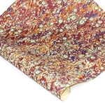 Italian Marbled Paper - Sun Spot - Red/Blue/Yellow