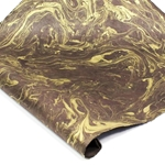 Marbled Lokta Paper - GOLD ON BROWN