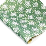 Italian Marble Print Paper - LILY - WHITE ON GREEN