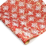 Italian Marble Print Paper - LILY - WHITE ON RED