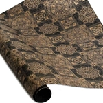 Screenprinted Indian Cotton Rag Paper - EMBELLISHED - BLACK/GOLD