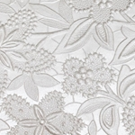 Indian Embossed Paper - PEARL FLOWER - WHITE