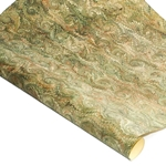 Italian Marble Paper - Spiral - OLIVE GREEN