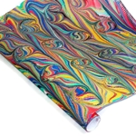 Custom Marbled Paper - Fine Combed Curl - RAINBOW