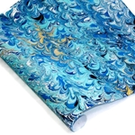 Custom Marbled Paper - Wave - DARK BLUE/BLUE