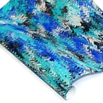 Custom Marbled Paper - Zig Zag - BLUE/BLACK