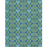 Decopatch Decoupage Paper - Emblem - BLUE/GREEN