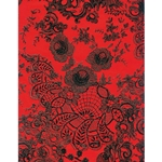 Decopatch Decoupage Paper - Floral - RED/BLACK