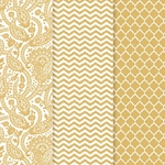 Americana Decou-Page Paper Design Pack - GOLD TRENDS
