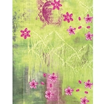Decopatch Decoupage Paper - Flowers - GREEN/PINK