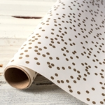 Paper Table Runner Roll - GOLD CONFETTI-20 Inches x 25 Feet